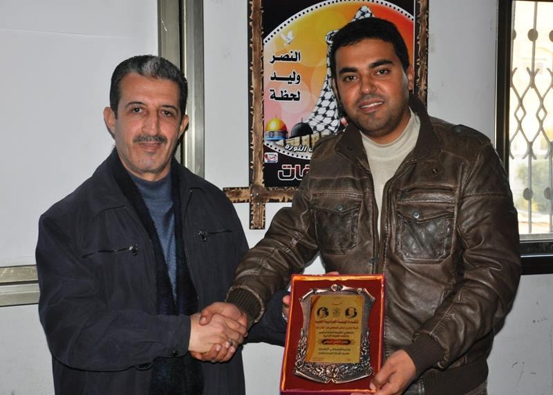 زيارة أ.فضل عرندس عضو اللجنة القيادية العليا /غزة للنادى