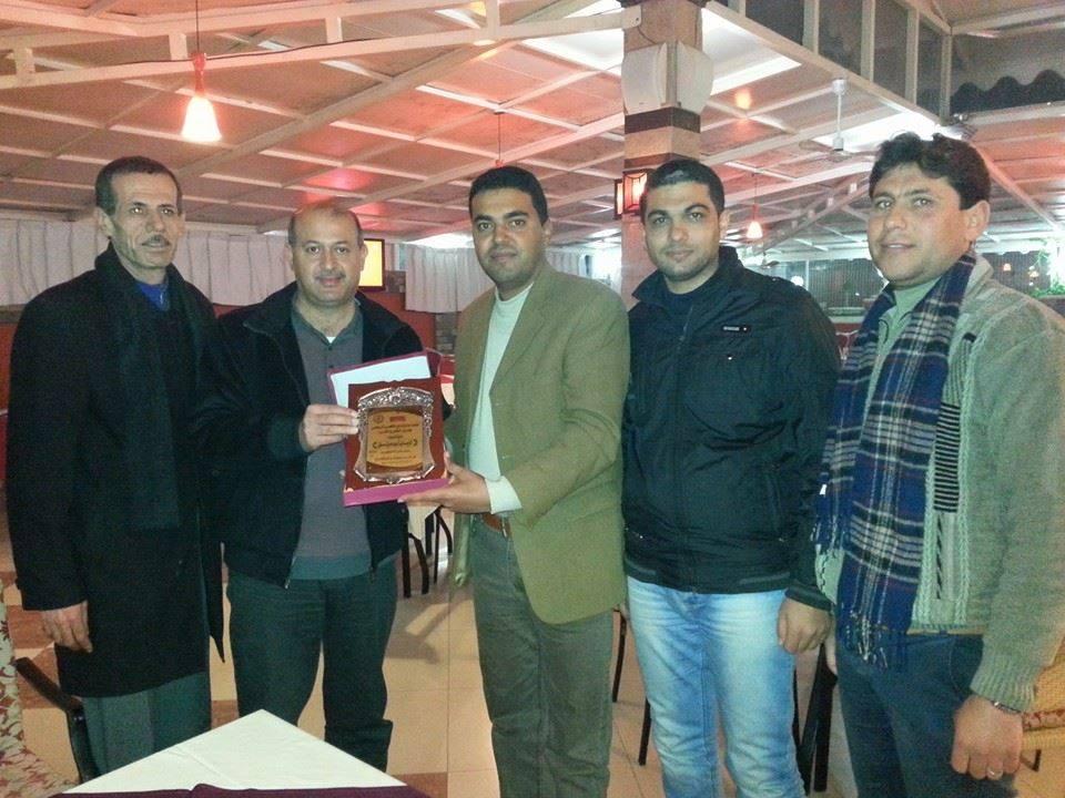 نادي الأقصى الرياضي يزور رئيس اتحاد المقاولين الفلسطينين