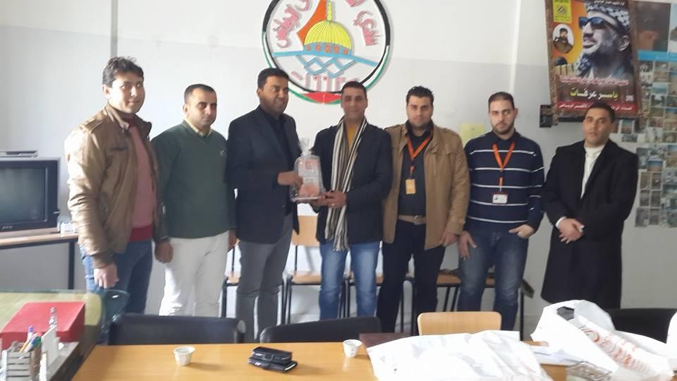 زيارة وفد من شركة اورانج فلسطين لنادى اﻷقصى الرياضي