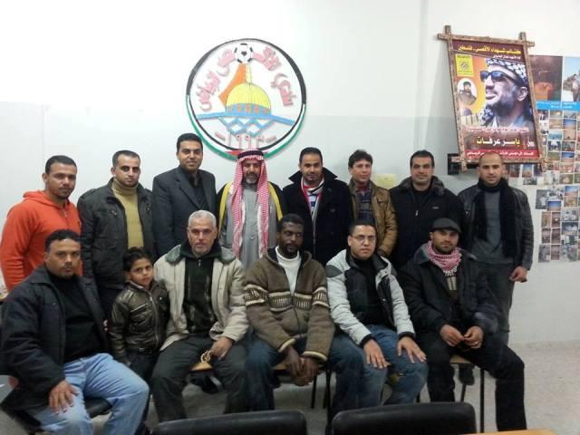 عضو اتحاد ألعاب القوى فى فلسطين يزور النادي