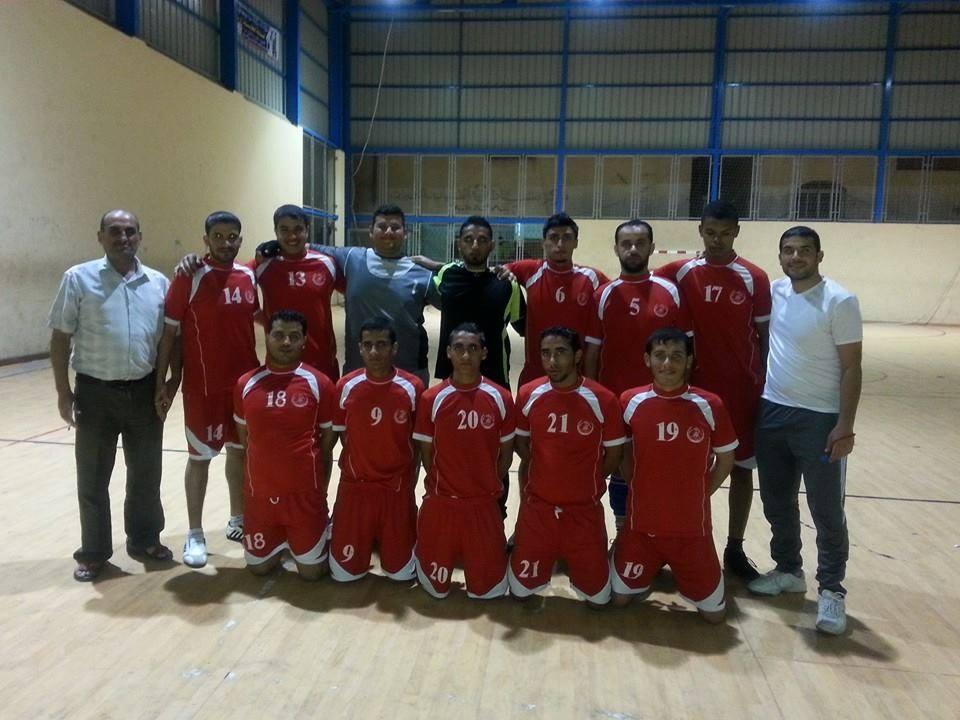 فريق كرة اليد بنادي الأقصى الرياضي يلتقي نظيره بخدمات النصيرات في مباراة ودية