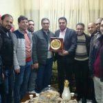 نادي الأقصى الرياضي يزور رئيس مجلس إدارته مباركا بالمولود الجديد