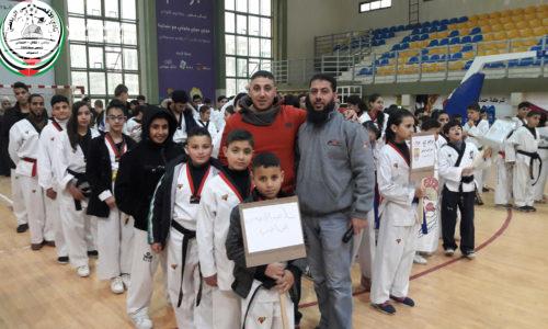 نادي الأقصى الرياضي يحصد 12 ميدالية في بطولة فلسطين الثالثة للبومسي.