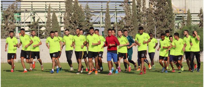 صور من استعدادات الفريق الأول لكرة القدم لدور الإياب من دوري الدرجة الأولى